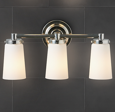 Bathroom Lighting Restoration Hardware asbury - polished nickel | rh
