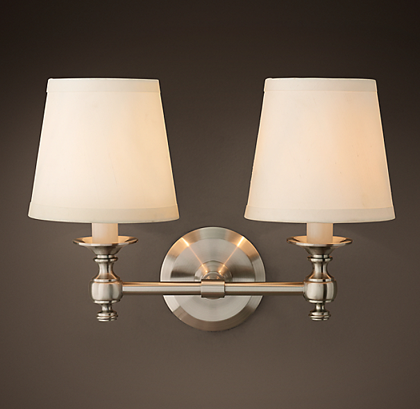 Restoration Hardware Outdoor Lighting Reviews: Lugarno Double Sconce