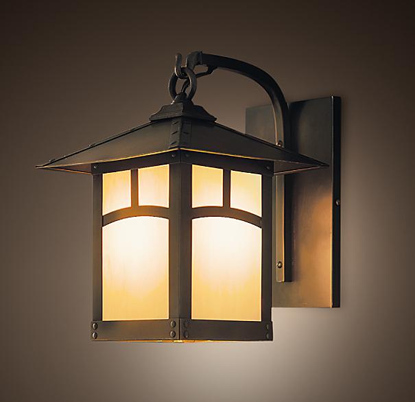 Restoration Hardware Festoon Lighting: Madera Lantern Sconce