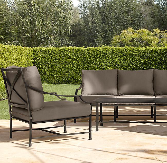 Carmel Classic Sofa, Restoration Hardware Inspired Outdoor Furniture