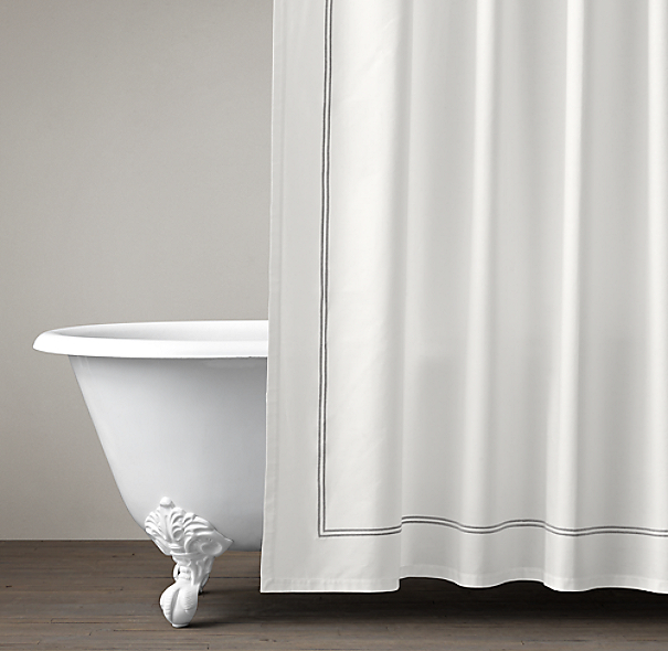 italian hotel satin stitch shower curtain