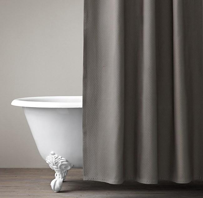 matelassé shower curtain