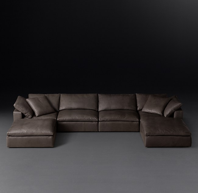 Cloud Modular Leather Customizable Sectional