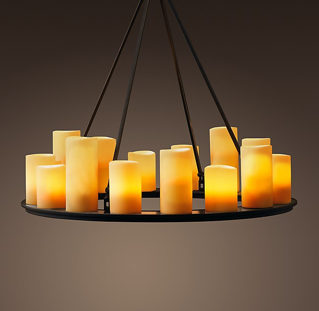 Pillar candle round chandelier 32 mozeypictures Image collections