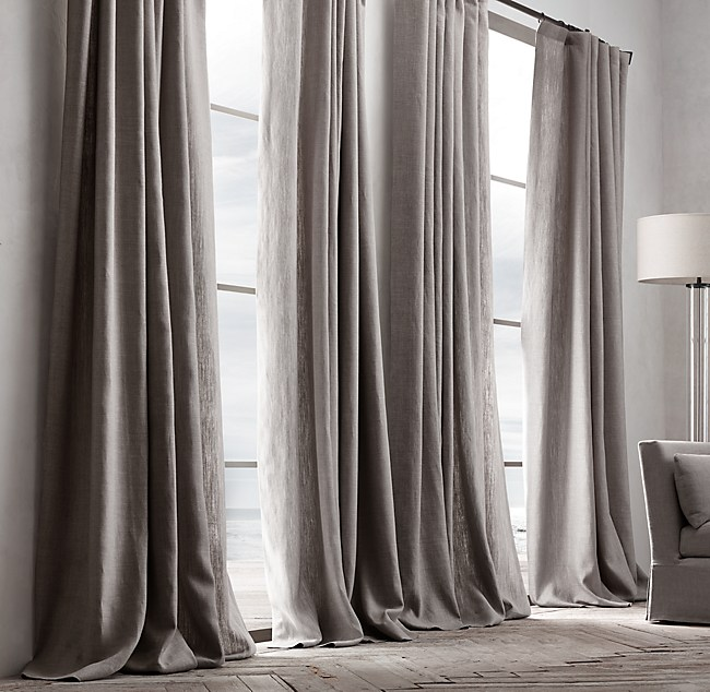 textured linen drapery