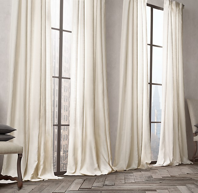 restoration drapes review thai linen large tonal reviews pinstripe striped size hardware curtains sheer silk of coffee