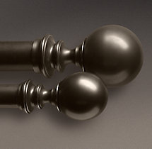 Estate Metal Ball Finials - Oil-Rubbed Bronze (Set of 2)