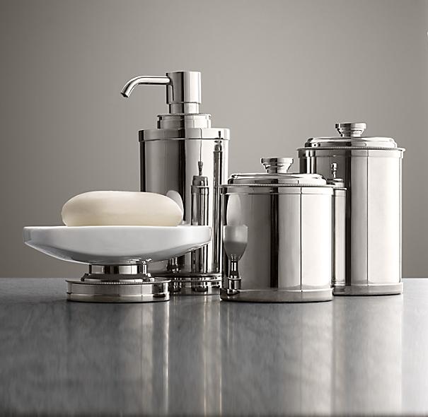 Asbury bath accessories for Restoration hardware bathroom accessories