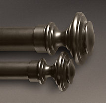 Estate Metal Newel Finials - Oil-Rubbed Bronze (Set of 2)
