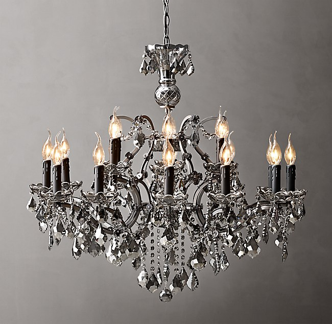 19th C Rococo Iron Amp Crystal Round Chandelier 33 Quot
