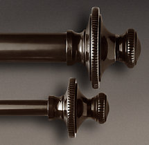 Classic Knurled Finial & Rod Set - Bronze