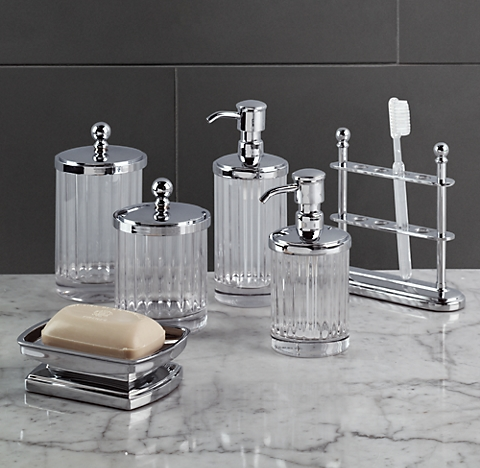 Glass Bathroom Accessories Sets. More Finishes