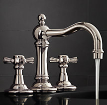"Vintage Cross-Handle 8"" Widespread Faucet Set"
