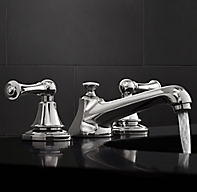 Chatham lever handle 8 widespread faucet for Restoration hardware bathroom faucets