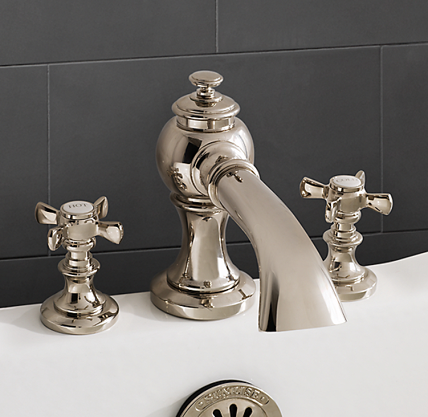 Lugarno deck mount tub fill for Restoration hardware bathroom faucets