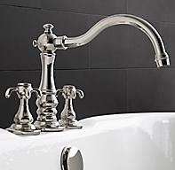 Bistro deck mount tub fill for Restoration hardware bathroom faucets