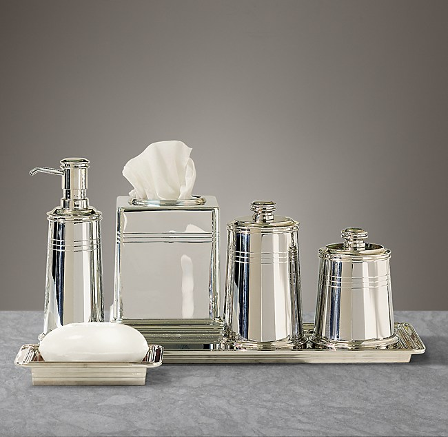 Apothecary Metal Bath Accessories