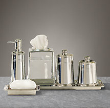 Apothecary Metal Bath Accessories - Polished Nickel
