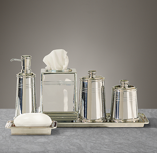 apothecary metal bath accessories polished nickel