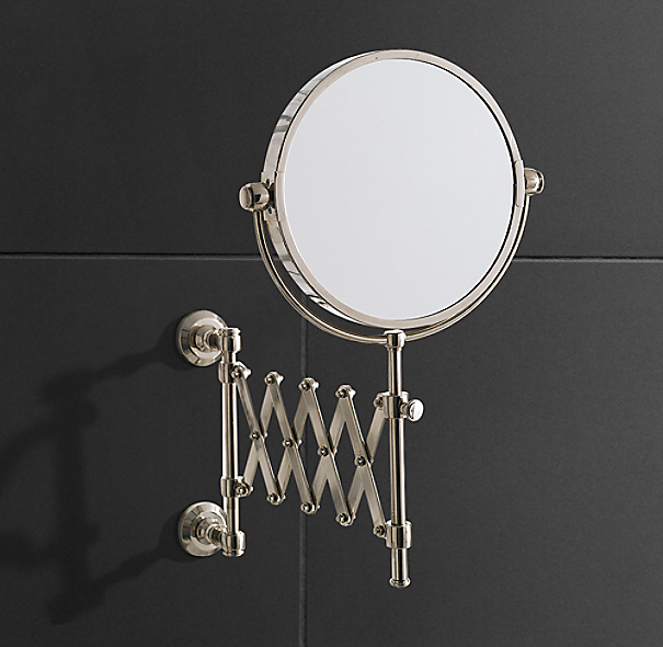 Amazing Restoration Hardware Baroque Aged SilverLeaf Mirrors  Bathroom