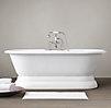 Palais Pedestal Soaking Tub And Tub Fill With Handheld Shower