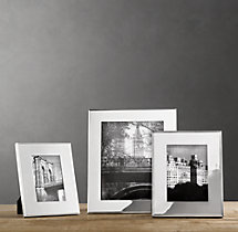 Hampton Wide Tabletop Frames - Silver-Plated