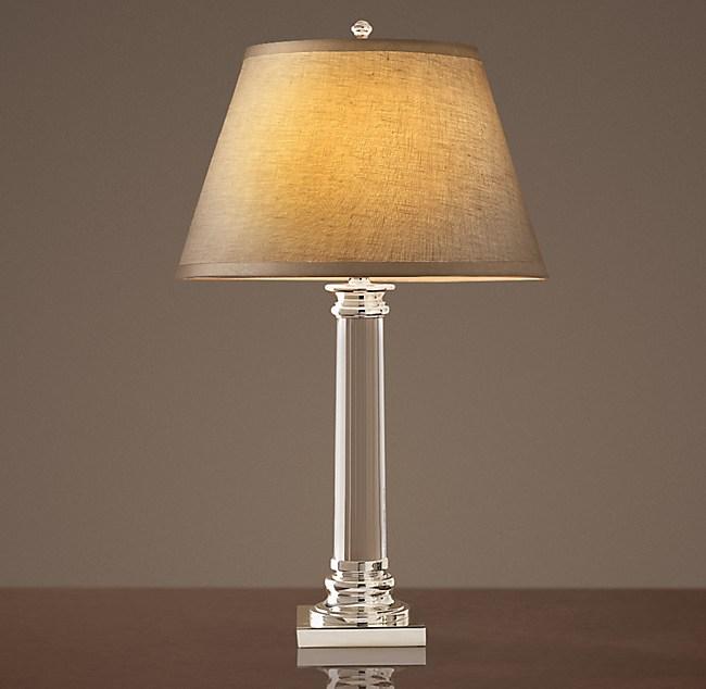 Chelsea column table lamp polished silver plate aloadofball Images