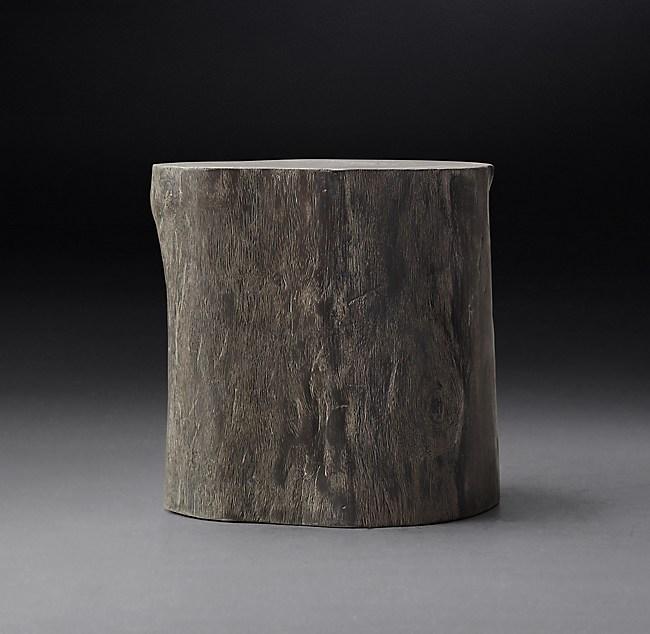 Suar Wood Cylinder Stool