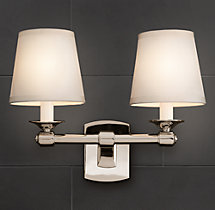 Campaign Double Sconce