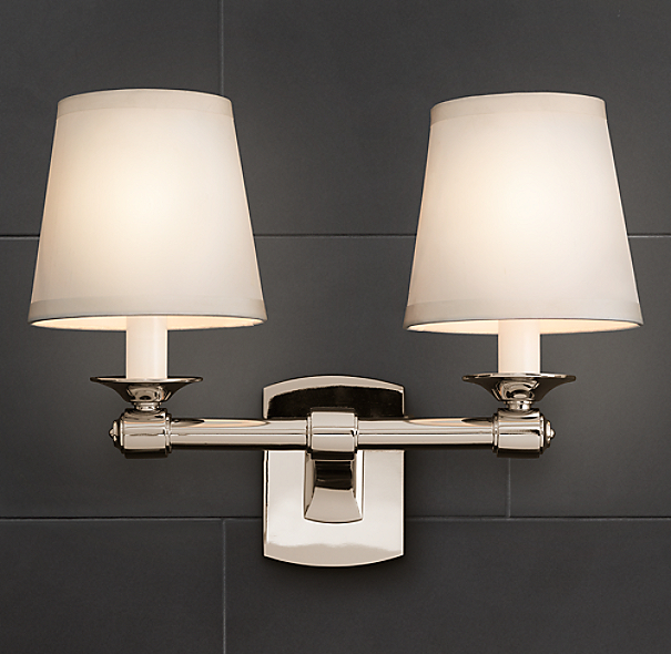 Restoration Hardware Outdoor Lighting Reviews: Campaign Double Sconce
