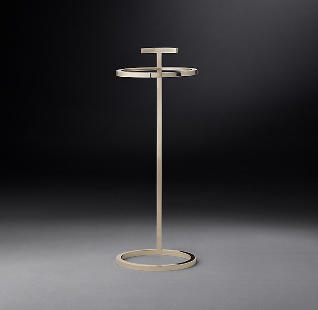 Martini Table: 1930s Martini Round Side Table