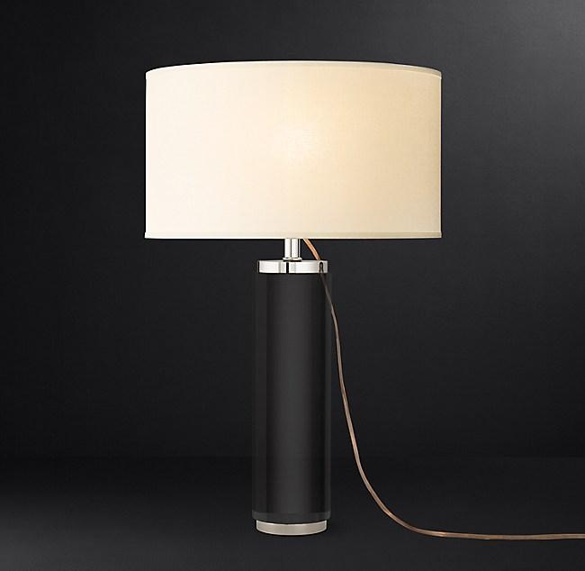 Cylindrical Column Crystal Table Lamp