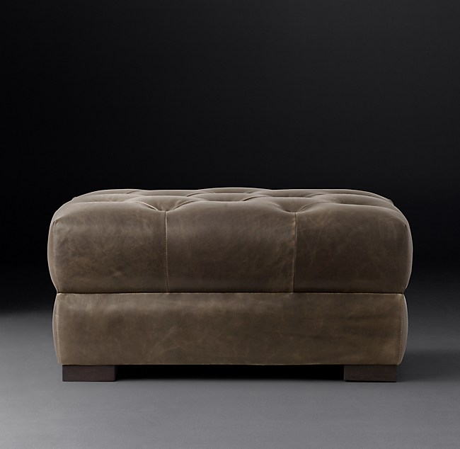 Pleasant Modena Chesterfield Leather Ottoman With Tufted Seat Uwap Interior Chair Design Uwaporg
