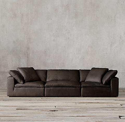 3 Depths Cloud Modular Leather Sofa