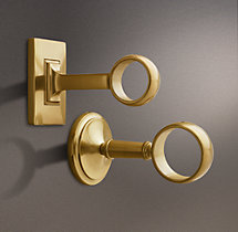 Estate End Brackets - Brass (Set of 2)