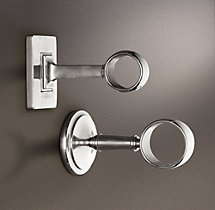 Estate End Brackets - Silver (Set of 2)