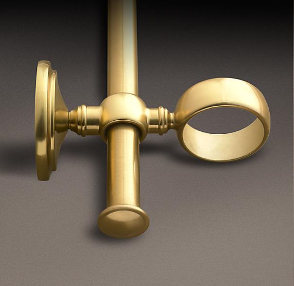 Estate Double Rod Conversion Kit Brass