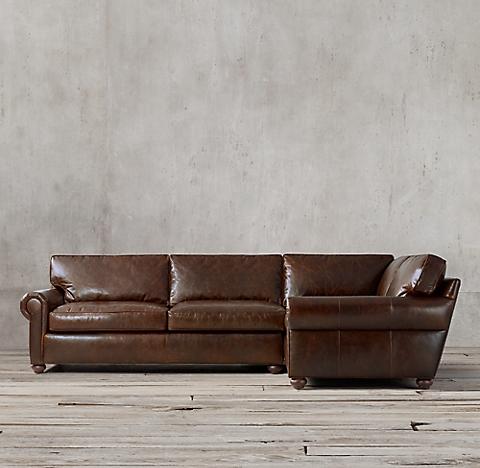 Multiple Configurations Original Lancaster Leather L Sectional