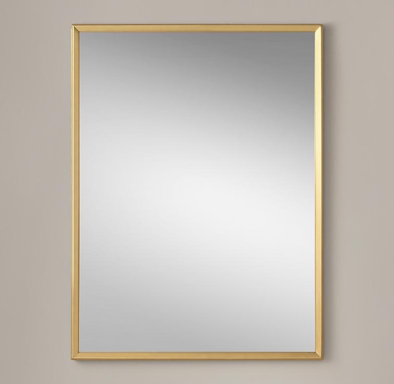 Metal Beveled Mirror