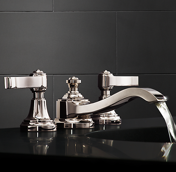 Campaign 8 widespread faucet for Restoration hardware bathroom faucets