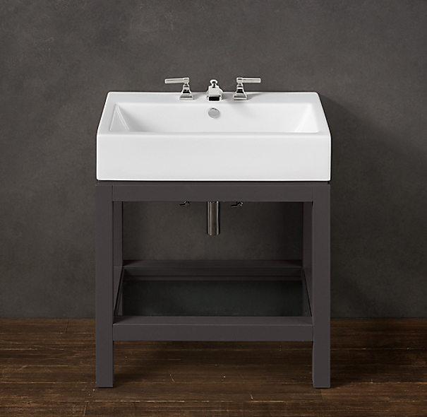 Hutton single console sink for Single sink consoles bathroom