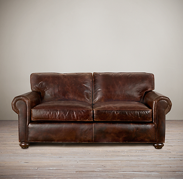 "60"" Original Lancaster Leather Sofa"