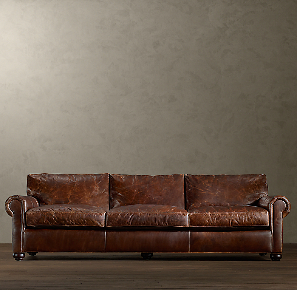 96 Quot Original Lancaster Leather Sleeper Sofa