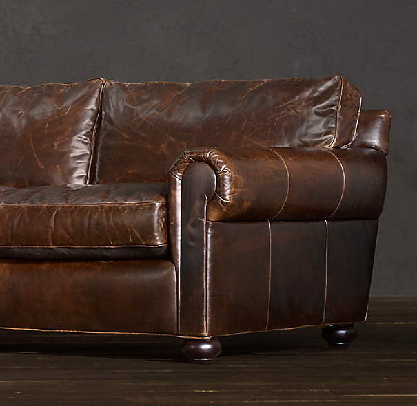 "Leather Sofa Repair Rochdale: 88"" Original Lancaster Leather Sleeper Sofa"