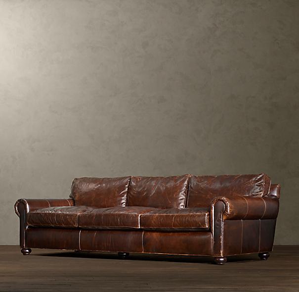 Original Lancaster Leather Sleeper Sofa