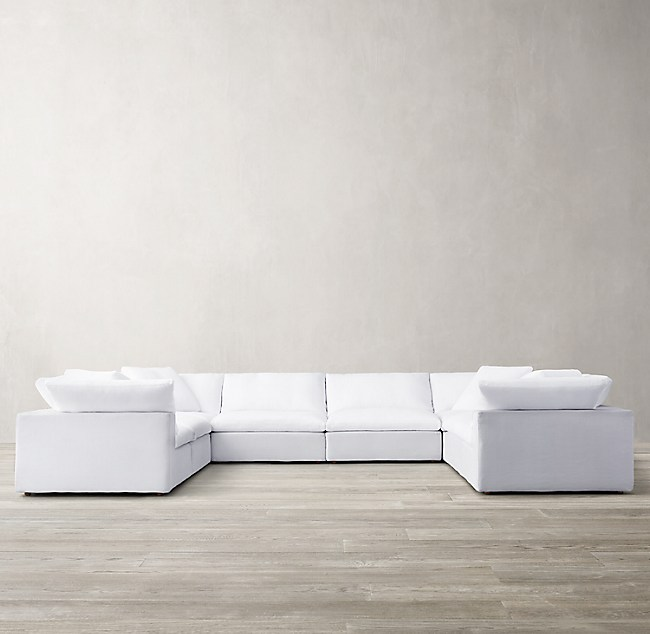 Modular Fabric U-Sofa Sectional
