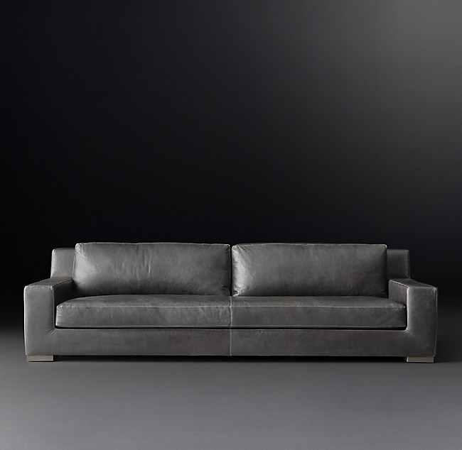 Modena Track Arm Leather Sofa