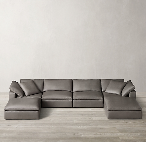 Cloud Modular Leather Sectionals | RH