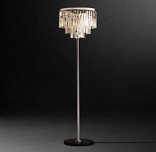 All floor lighting rh 1920s odeon clear glass fringe floor lamp 72 aloadofball Gallery