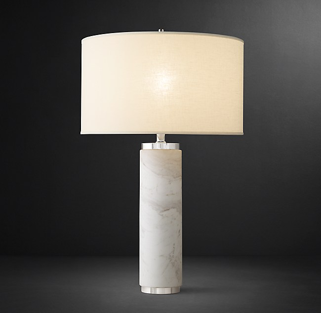 Large Size Of Marble Dining Om Table Restoration Hardware: Cylindrical Column Marble Table Lamp
